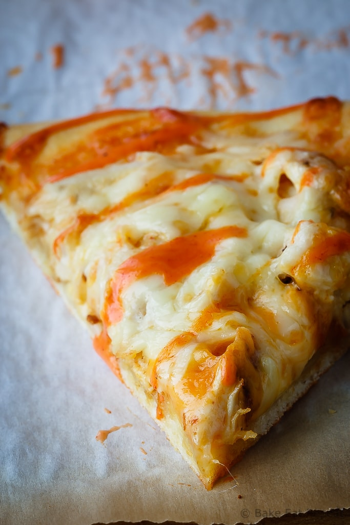 Buffalo Chicken Pizza - This buffalo chicken pizza is our favourite for pizza night - easy to make and so full of flavour, if you love buffalo chicken you will love this pizza!