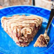 Banana Berry Oatmeal Cake