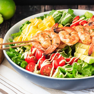 Cilantro Lime Grilled Shrimp Salad