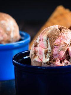No Churn Neapolitan Ice Cream - Easy, no churn Neapolitan ice cream - made with sweetened condensed milk, this mix of vanilla, chocolate and strawberry ice cream is perfectly creamy! #EagleBrandSummer #sponsored