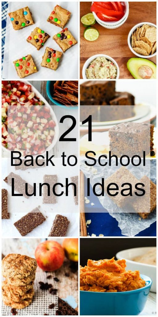 21 Back to School Lunch Ideas - A great round up of lunch/snack ideas for school lunches - 21 lunch ideas to make back to school a little bit easier!