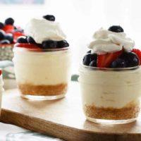 Lemon Berry No Bake Cheesecake Cups