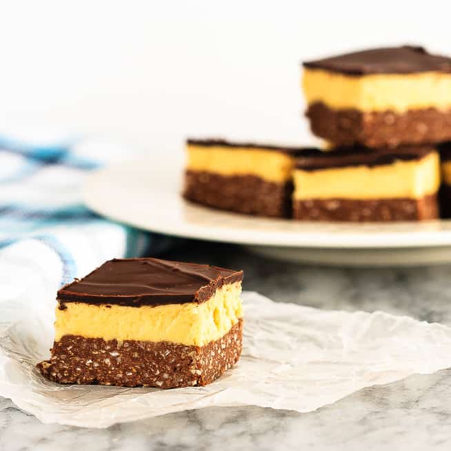 These are the absolute best nanaimo bars, an amazing sweet treat that's a perfect addition to your holiday dessert table!