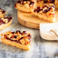 Glazed Cranberry Almond Bars