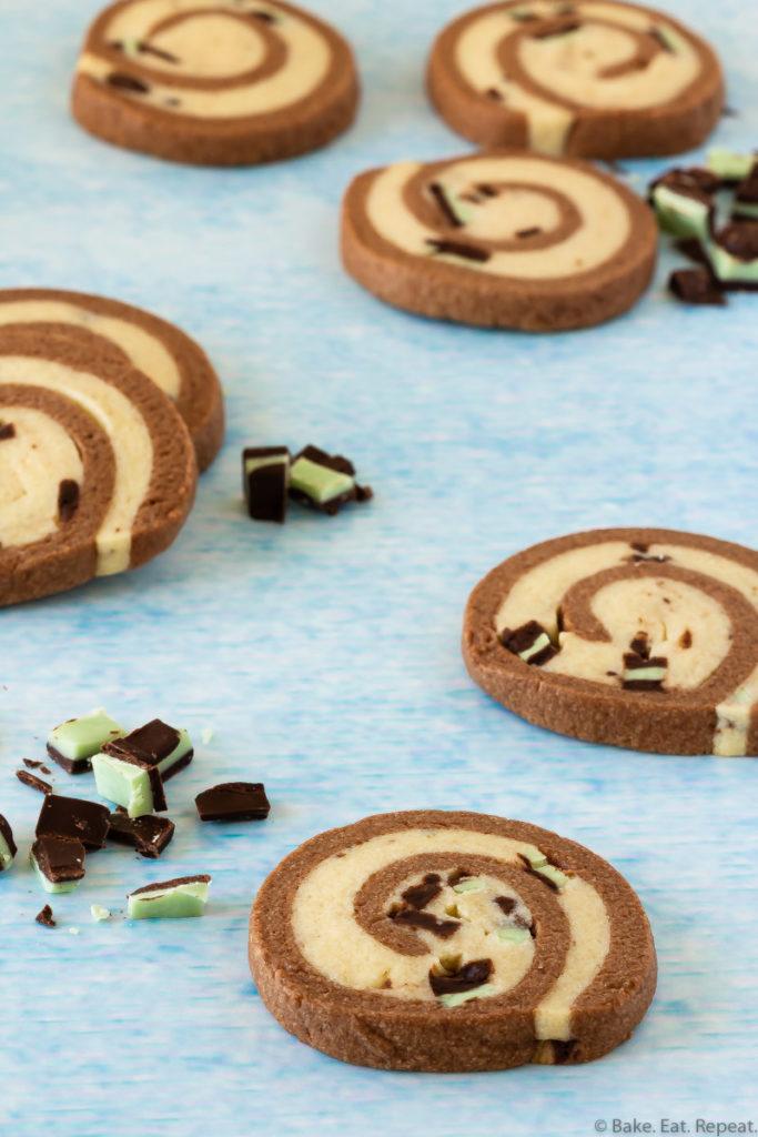 slice and bake mint chocolate cookies