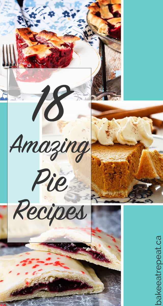18 Amazing Pie Recipes - 18 amazing pie recipes to tempt you! So many options, so little time.