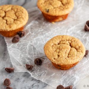 Peanut Butter Banana Blender Muffins