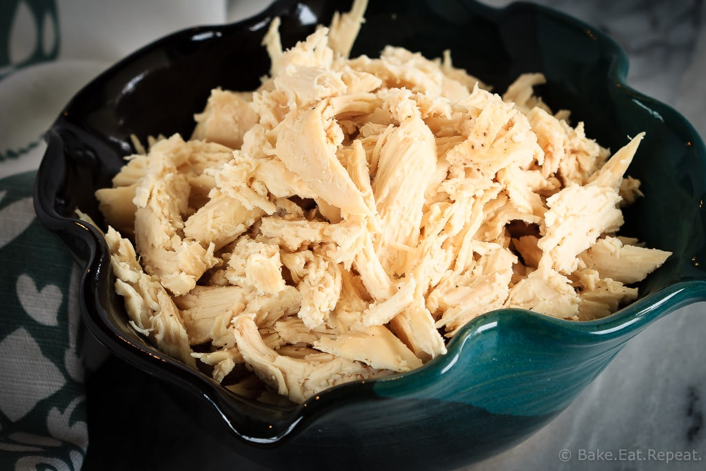 This slow cooker shredded chicken takes just minutes to get started, and results in perfect, easily shredded chicken in just a few hours.