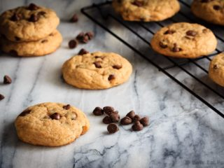 Chewy chocolate chip banana cookies - soft and chewy cookies that taste like chocolate chip banana bread. It's banana bread in cookie form!