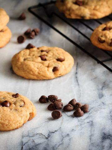 Chewy Chocolate Chip Banana Cookies