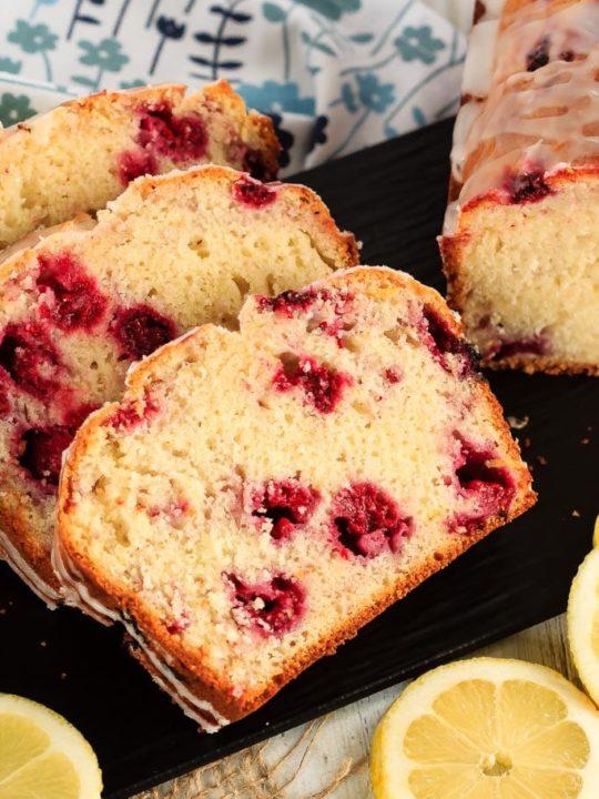 Glazed Raspberry Lemon Bread