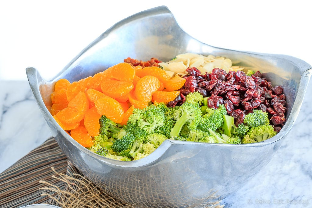 This broccoli salad makes the perfect side dish to bring to a BBQ or potluck - it's quick and easy to make and everyone loves it! And it can be made ahead of time!
