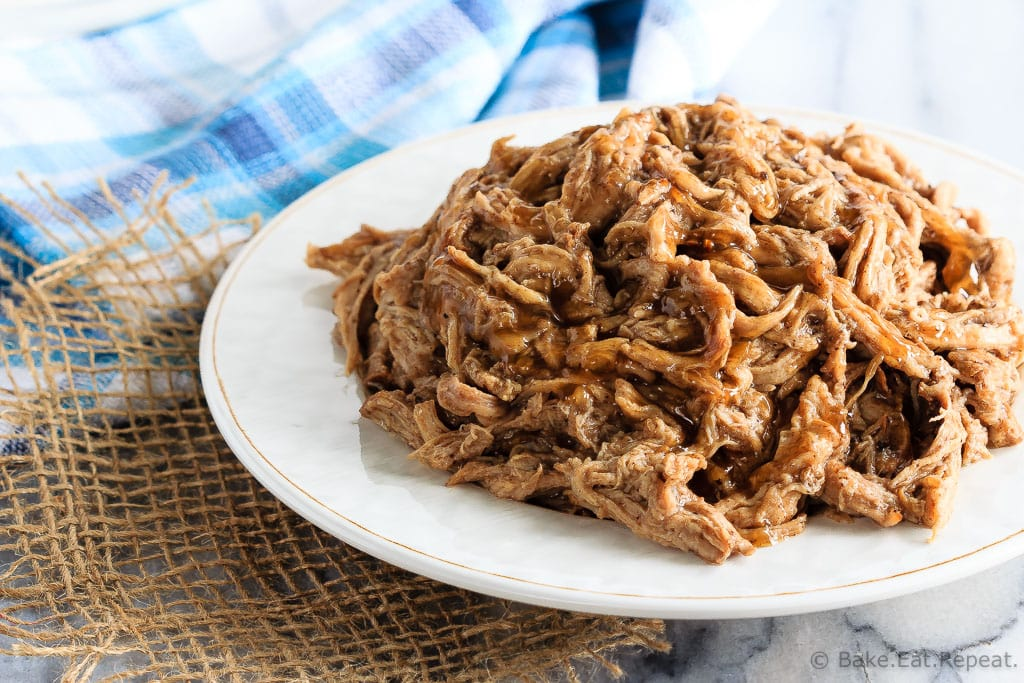 This tender maple balsamic pork tenderloin takes just minutes to get into the slow cooker and is amazing piled onto a soft roll for an easy dinner!