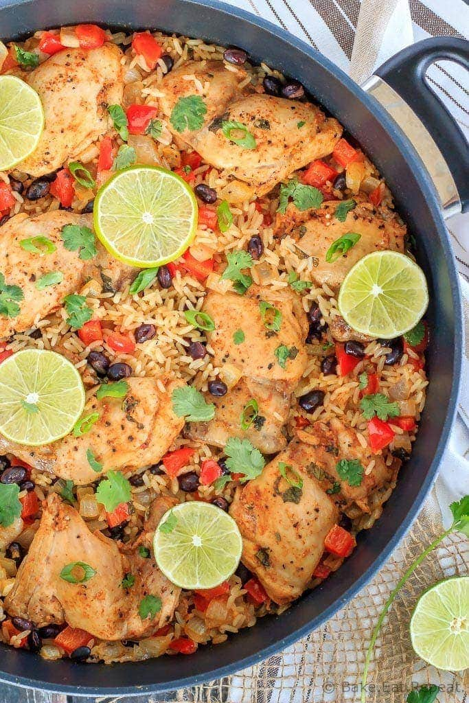 This one pot cilantro lime chicken and rice is a healthy, easy weeknight meal made in one pot that the whole family will love!