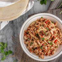 3 Ingredient Chicken Tacos {Instant Pot or Slow Cooker}