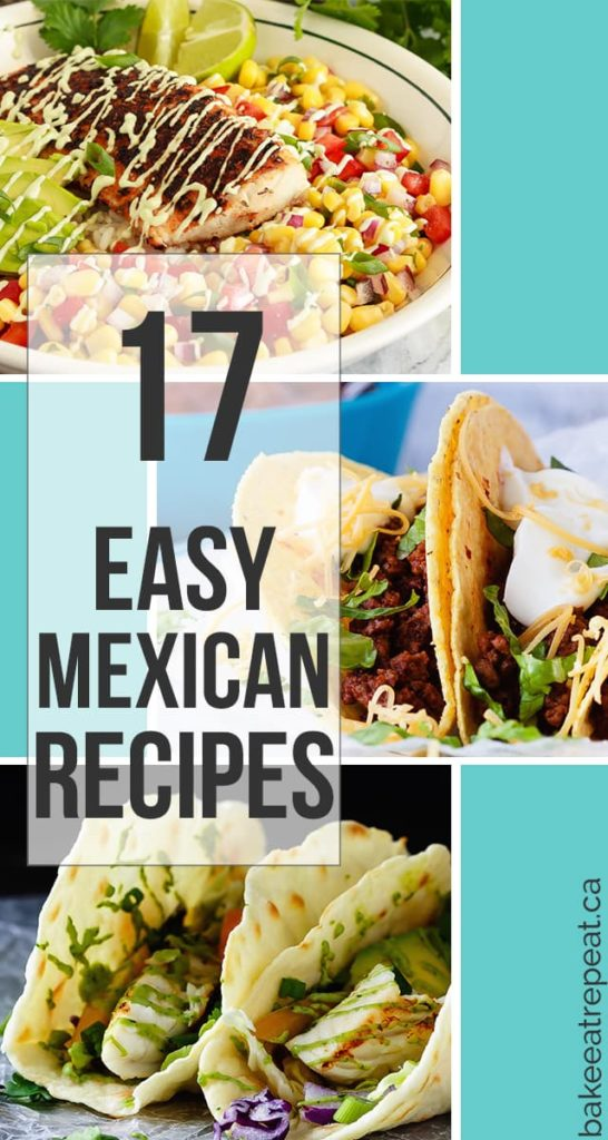 Here are 17 easy and delicious Mexican recipes for you that are perfect for your Cinco de Mayo plans, or just for an easy weeknight meal. The whole family will love these recipes - the tricky part will be deciding what to make first!