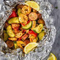 Cajun Shrimp and Sausage Foil Packets