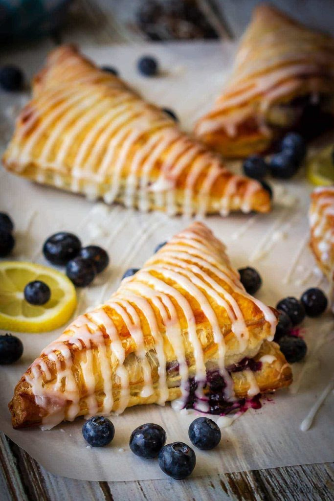 These lemon blueberry turnovers are a fast and easy dessert that everyone will love - the perfect sweet treat for the summer!