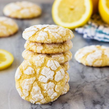 This easy recipe makes soft lemon cookies that are perfectly chewy. Coat them in powdered sugar before baking for lemon crinkle cookies everyone will love!