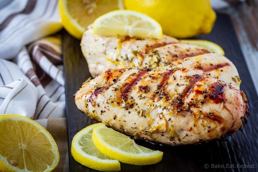 This Greek chicken marinade is easy to mix up and adds so much flavour to your chicken. Marinate and then grill or bake, or freeze for later!