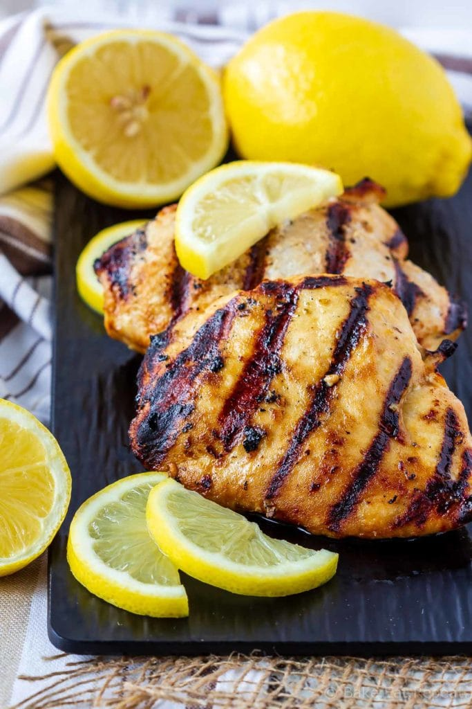 This lemon garlic chicken marinade is easy to mix up and adds so much flavour to your chicken. Marinade and then grill or bake, or freeze for later!