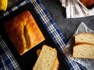 This classic banana bread is easy to make and everyone will love it - the best way to use up some over-ripe bananas, and it makes a great breakfast or snack!