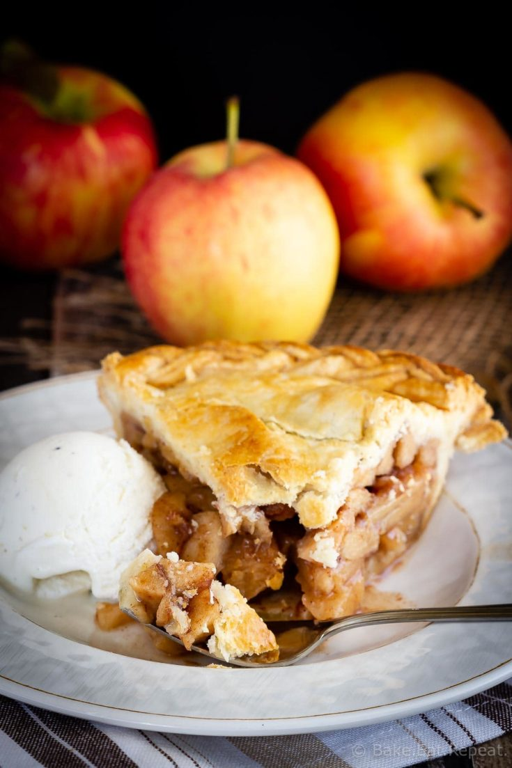 This easy apple pie is a classic dessert that is so much better when it's homemade! Easy, tasty, and filled with cinnamon apples - it's always a favourite!