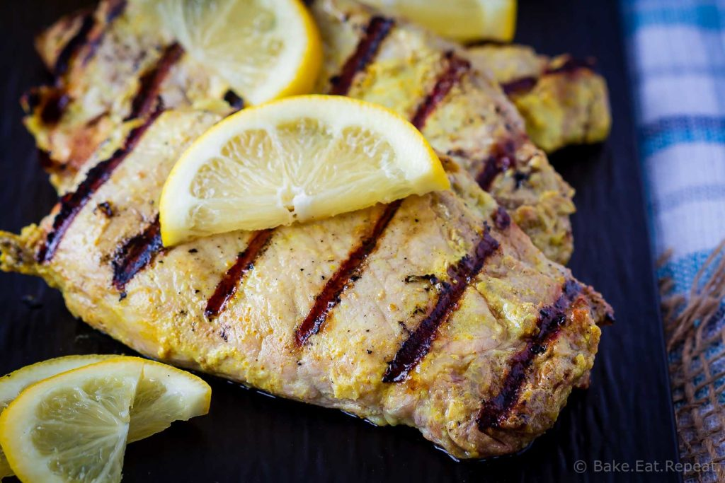 This tandoori pork chop marinade is easy to mix up and adds so much flavour to pork chops. Marinate and then grill, pan fry, or bake, or freeze for later!