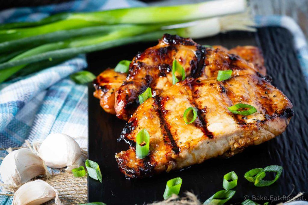 This teriyaki pork chop marinade is easy to mix up and adds so much flavour to pork chops. Marinate and then grill, pan fry, or bake, or freeze for later!