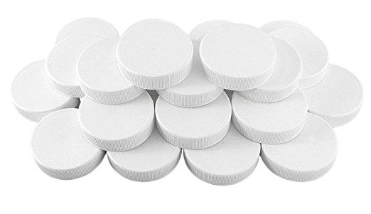 White Plastic Standard Mason Jar Plastic Lids