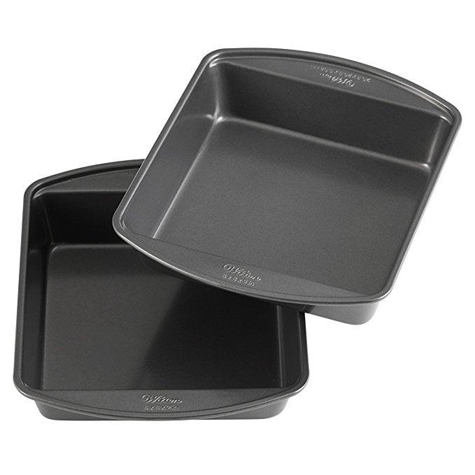 Wilton Non-Stick Square Cake Pans,  8-Inch