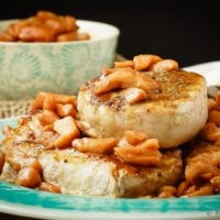 Baked Pork Chops with a Cinnamon Glaze