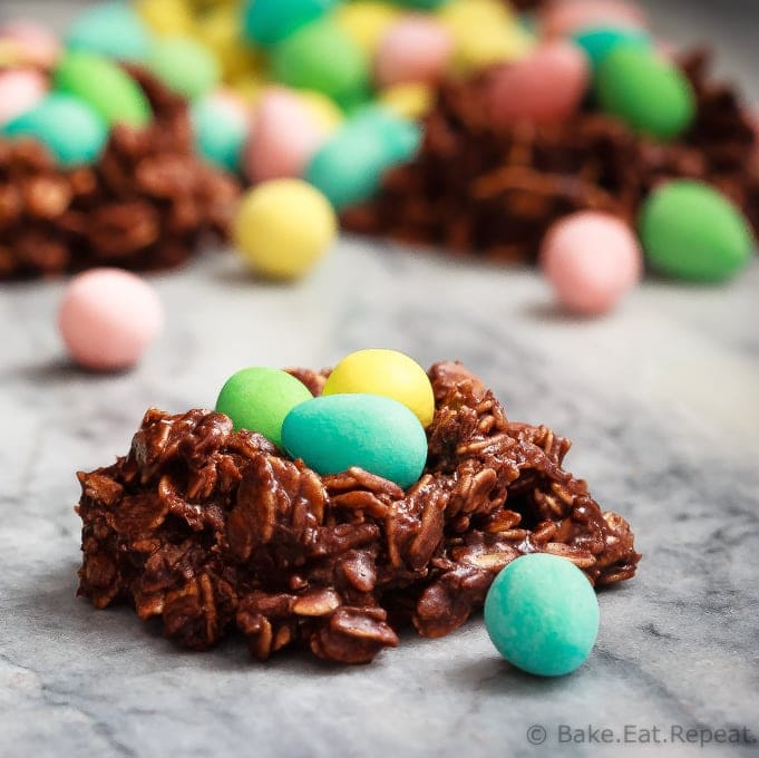 Bird's Nest Cookies for a kid's Easter treat