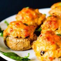 Cheesy Taco Stuffed Mushrooms
