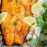 Chili Lime Baked Salmon
