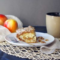 Apple Cinnamon Coffee Cake with a Salted Caramel Glaze
