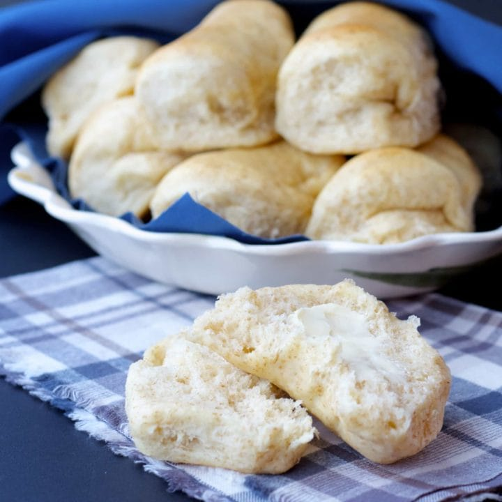 Whole Wheat and Honey Parker House Rolls