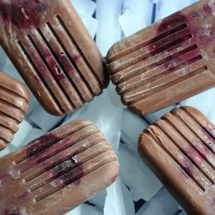 Dark Chocolate Cherry Fudgesicles