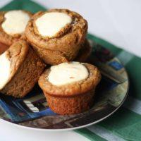 Cheesecake Topped Carrot Banana Muffins