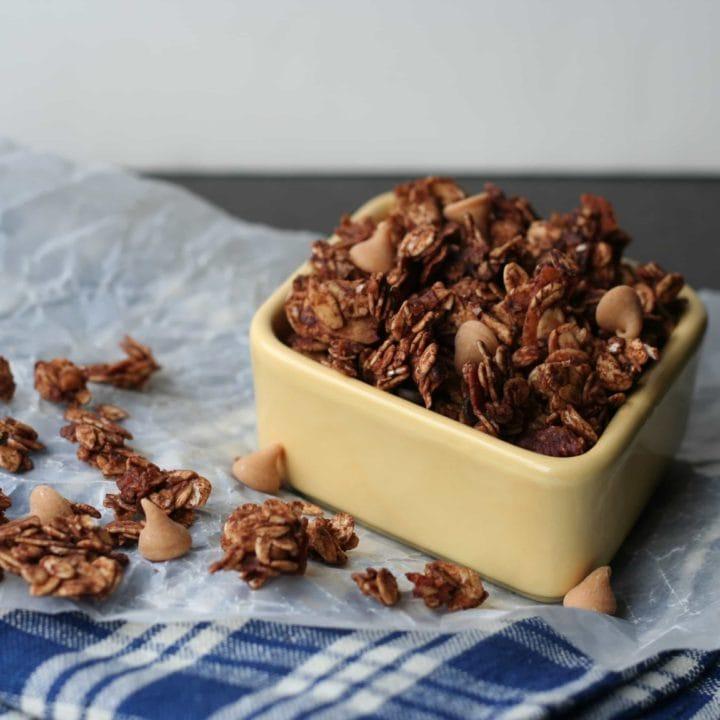 Chocolate Peanut Butter Banana Granola