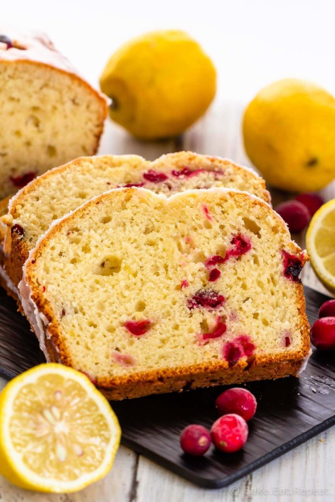 Easy Lemon Cranberry Bread