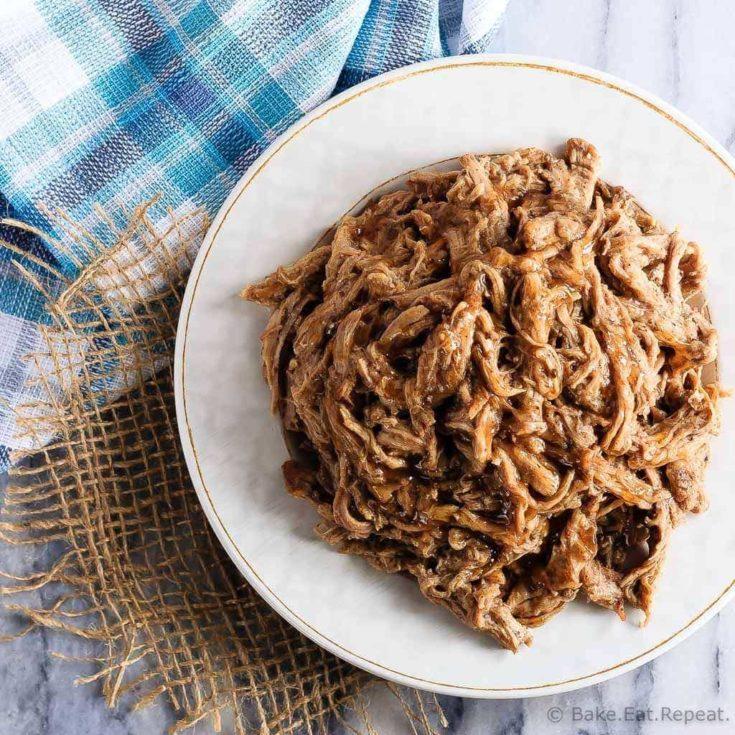 Slow Cooker Maple Balsamic Pork Tenderloin
