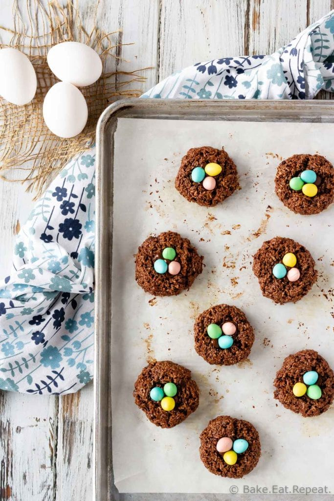 Bird's Nest Chocolate Macaroon Cookies