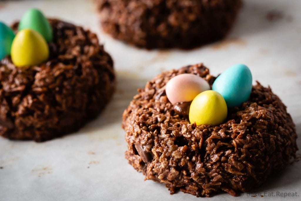 Bird's Nest Chocolate Macaroons