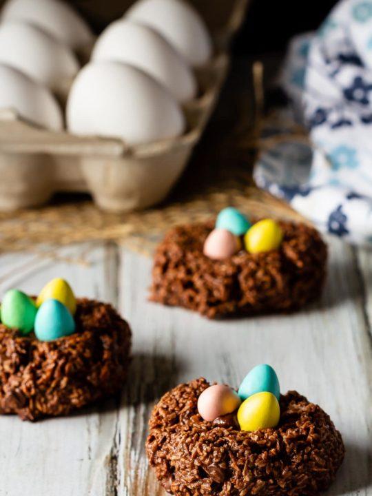 Bird's Nest Chocolate Macaroons