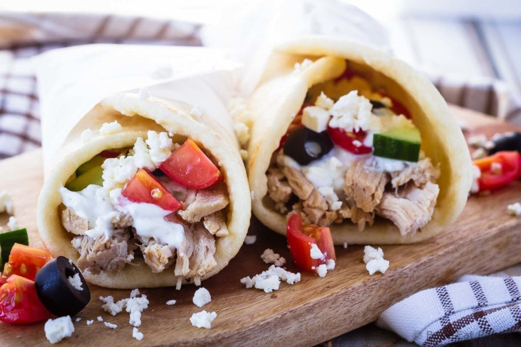 Instant Pot Greek pork wraps