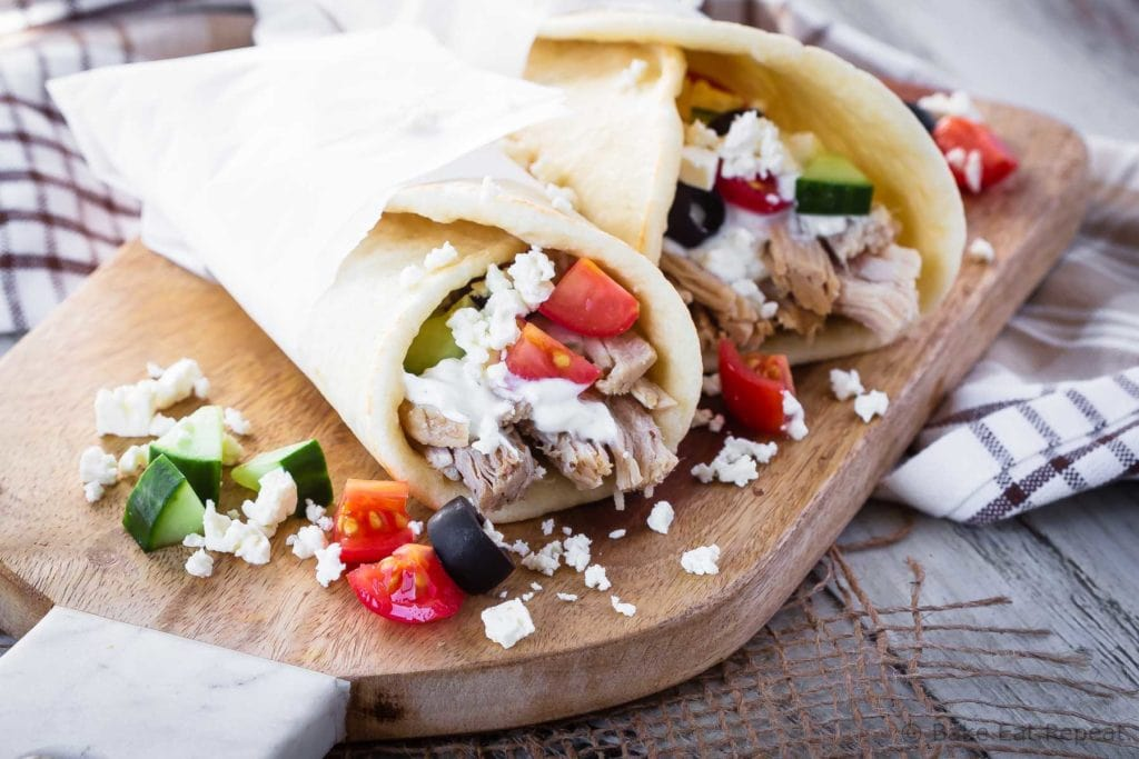 Greek pork gyros