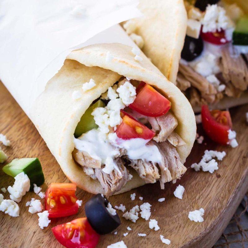 Slow Cooker Greek pork