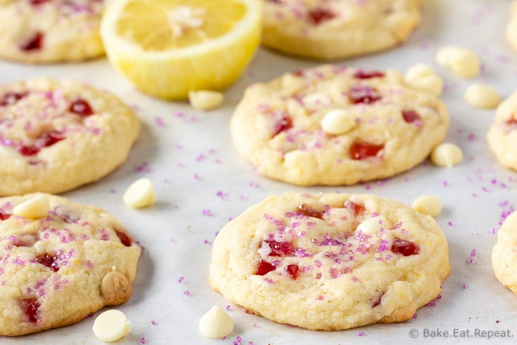 Copycat Subway Raspberry Lemonade Cookies
