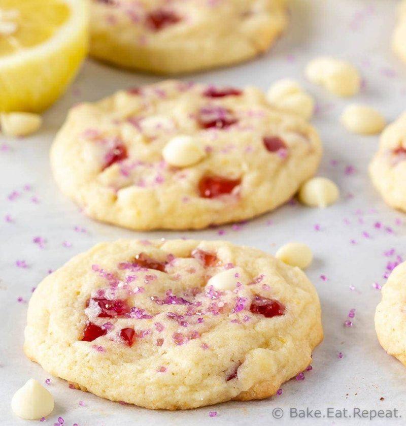 Subway Raspberry Lemonade Cookies